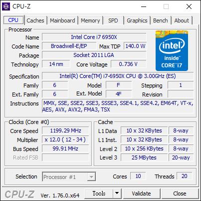 Intel Core i7-6950X-4